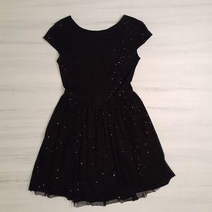 Zara Low Back Sparkle Party Dress